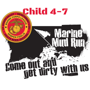 Mud Run Logo Child