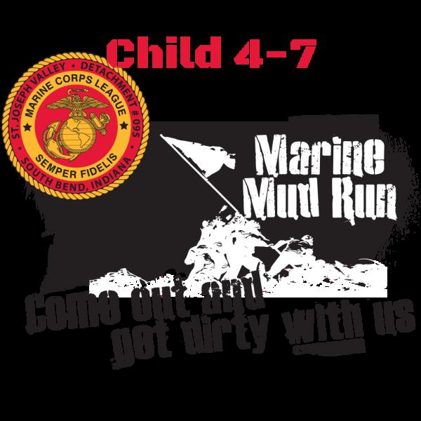 Mud Run Logo Child